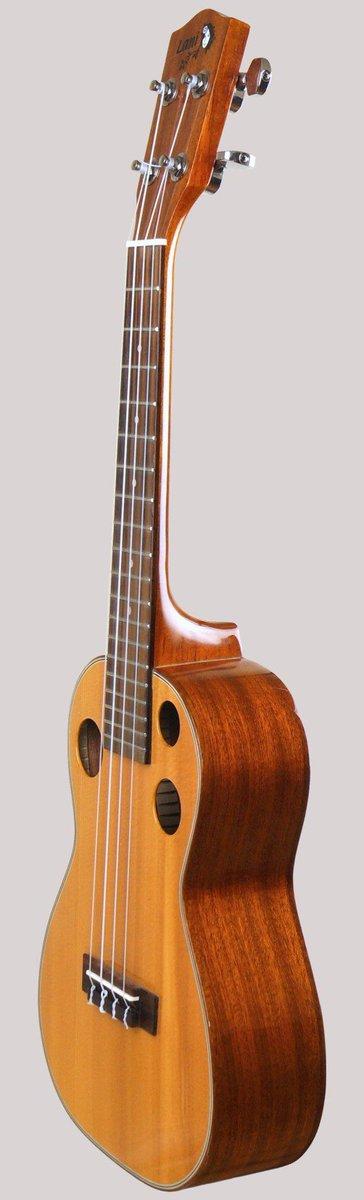 acoustica lani 3 hole spruce top mahogany ukulele