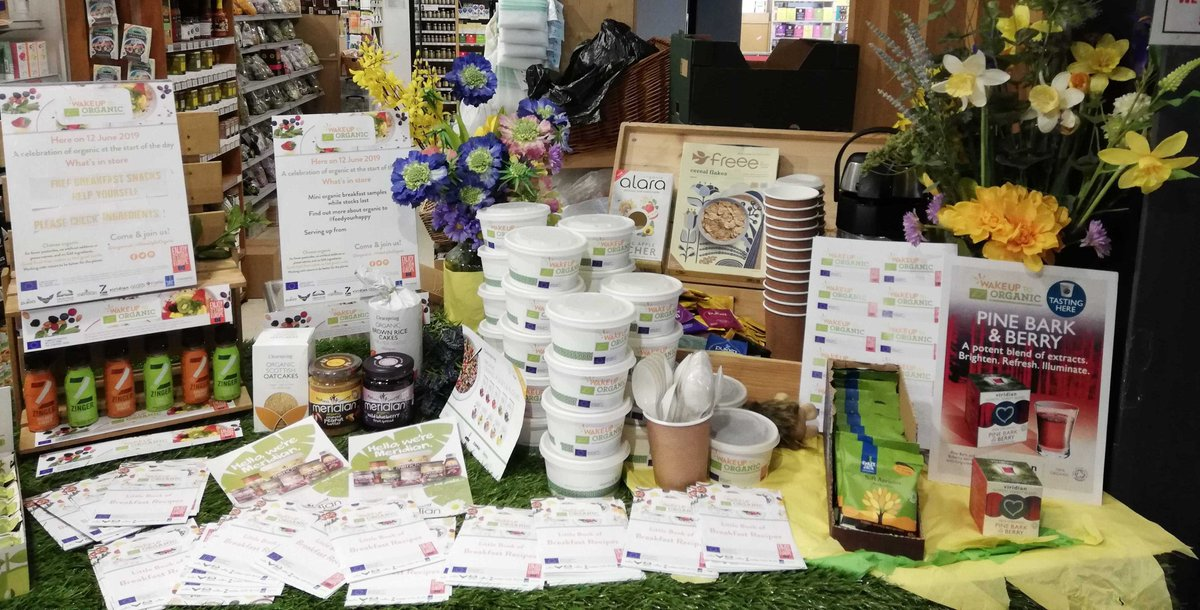We're all set up for #WakeUpToOrganic tomorrow so don't forget to pop in and bag your free organic breakfast! Available from 9am until 10am <br>http://pic.twitter.com/tjDIjn6sI0