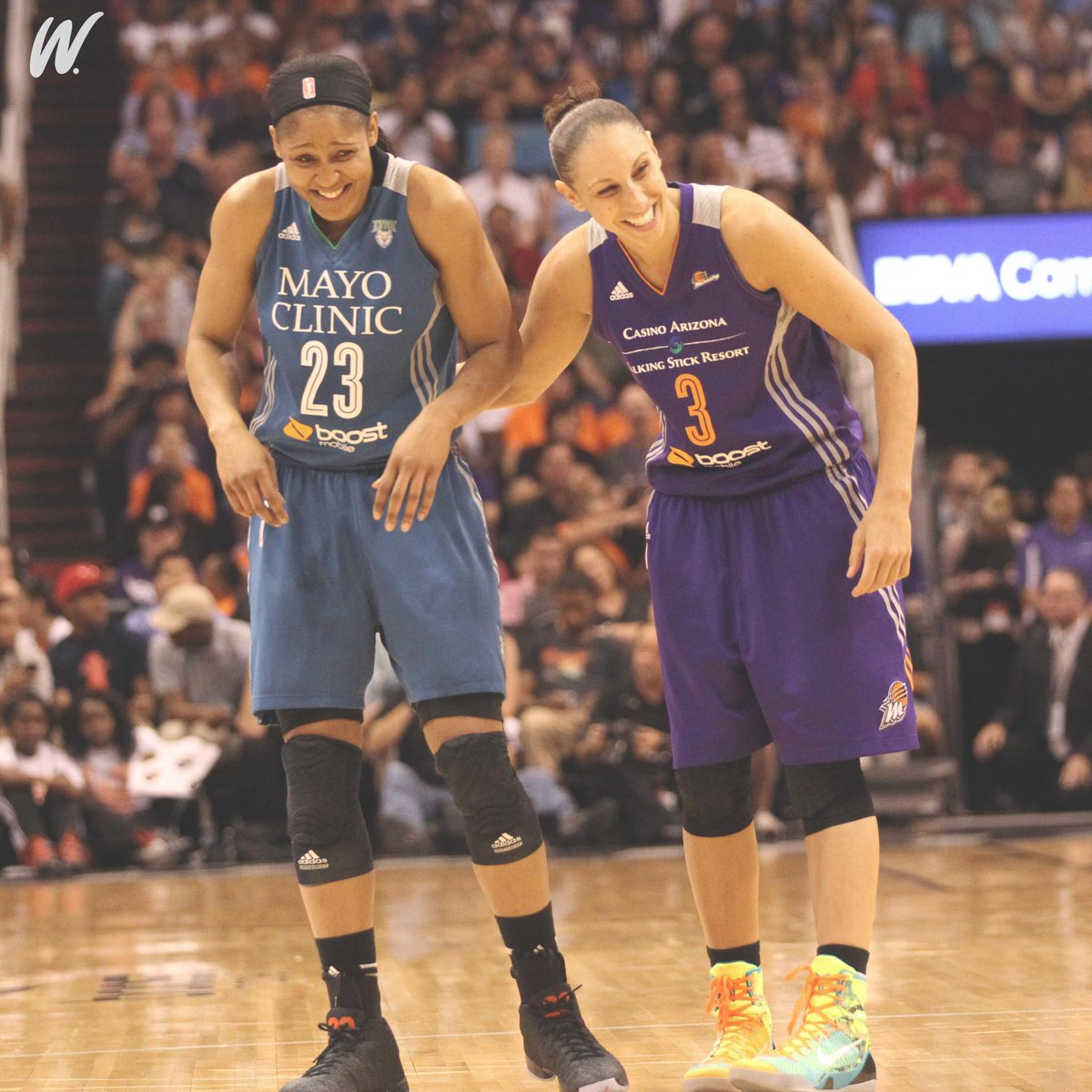 Two of the best to ever do it.   HBD @MooreMaya and @DianaTaurasi 🎉🐐