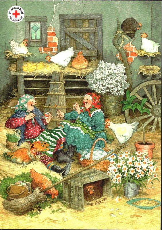 Нежными цветами, открытки старушки-веселушки
