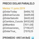 Image for the Tweet beginning: Dólar paralelo hoy Martes 11