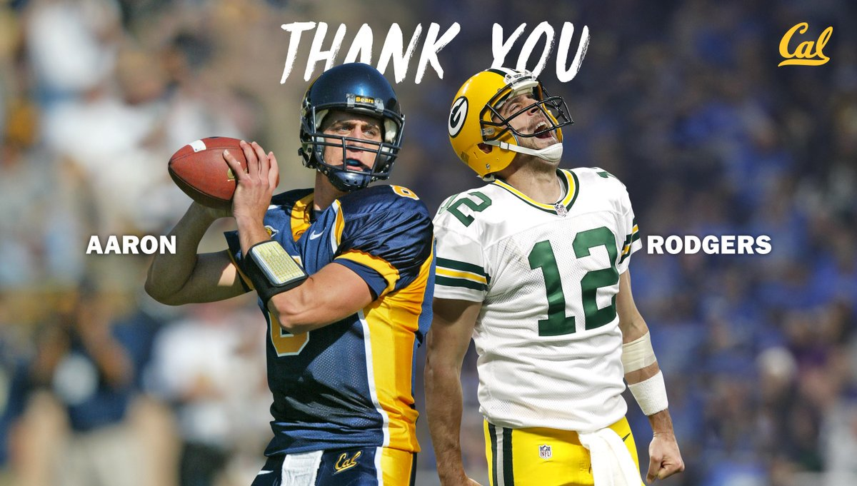 #Packers QB Aaron Rodgers has made a seven-figure donation to the Cal Football Program that will be used to renovate the locker room and create the Aaron Rodgers Football Scholarship, which will be awarded each year to a junior college transfer. <br>http://pic.twitter.com/UKVhONesZa