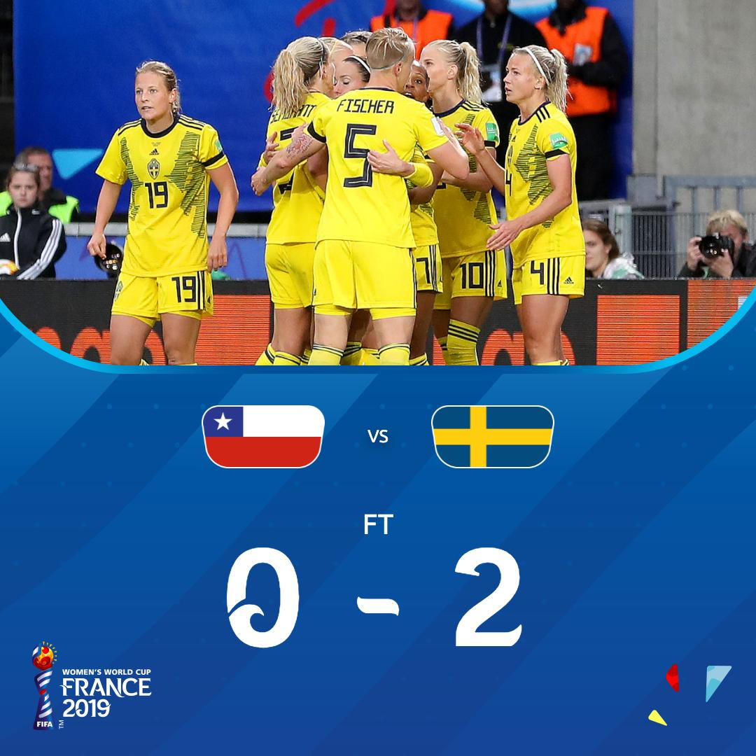 Job done for #SWE , but a brave debut from #CHI  in the Rennes rain!   #USATHA in 20 minutes!   #CHISWE | #FIFAWWC <br>http://pic.twitter.com/Xlx3chJF5X
