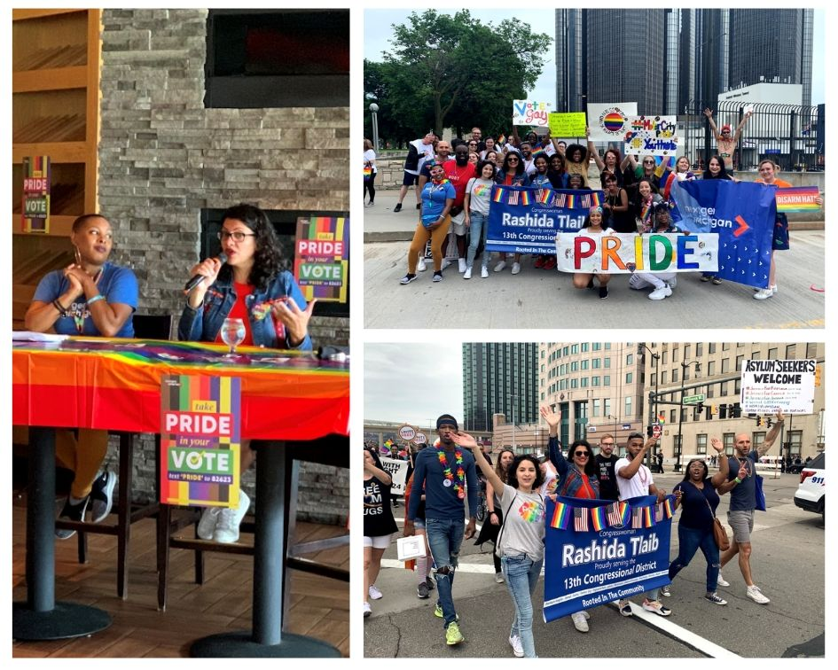 So much love, freedom, & equality felt in the Motor City #Pride parade over the weekend in #13thDistrictStrong! Thanks @NextGenAmerica for being our walk partners + hosting a town hall on health care, equity, activism + more. Onward in the fight for justice for our LGBTQ family!