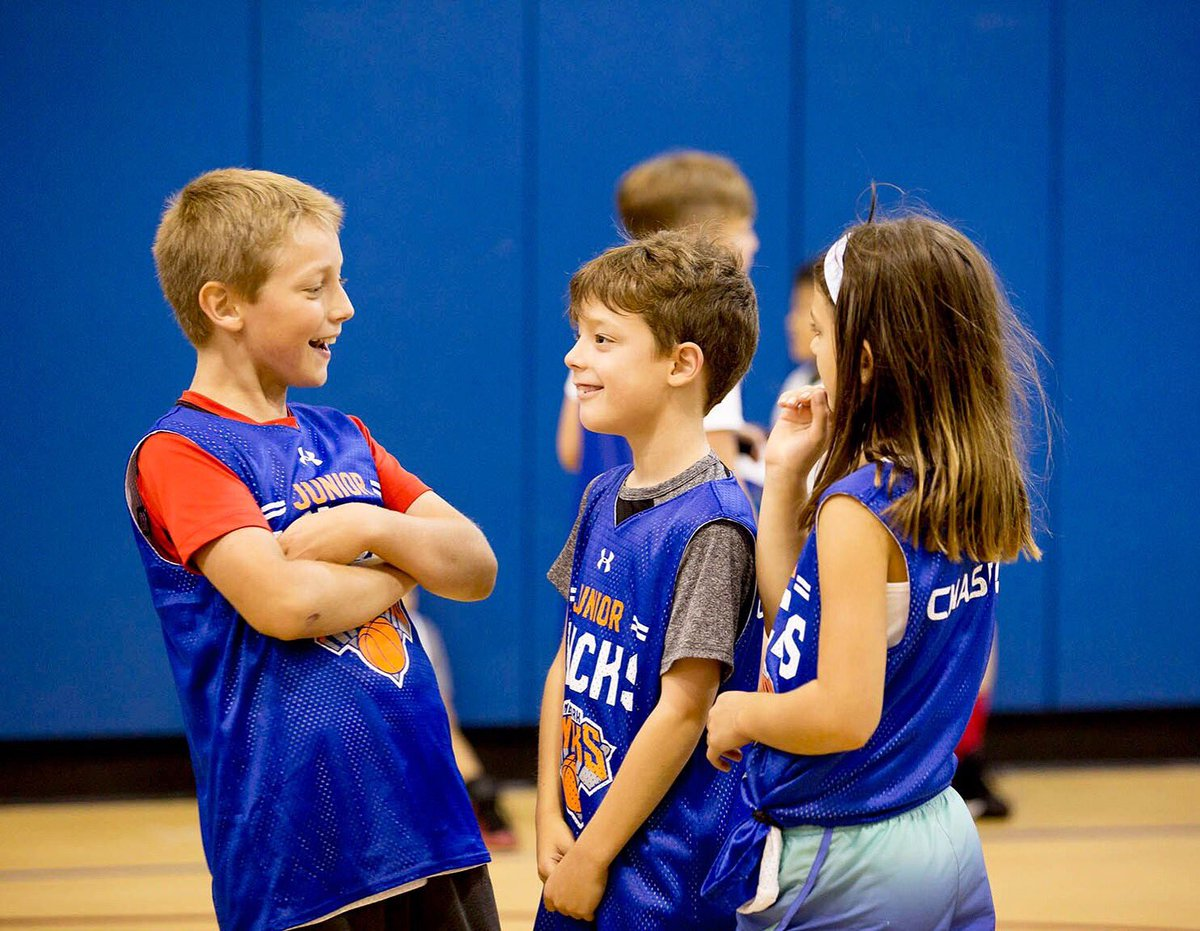 Friends made at #JrKnicks camp will become lifelong teammates 🙌  Mention your teammate you will be going to camp with this summer!                     Link in bio!