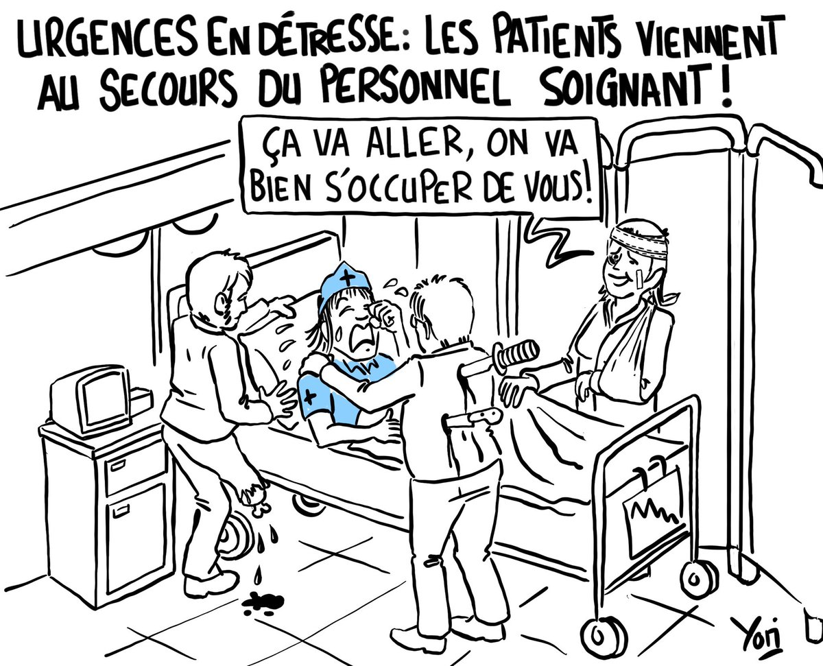 Public service… Source :  https:// tinyurl.com/y2nclnss     #urgencesengreve #greve #urgences #hopitaux #urgencesencolere #Buzyn #Medical #Sante #Medecine #dessin #dessindepresse #DessinDuJour #humour<br>http://pic.twitter.com/Tv7TFfuM0X