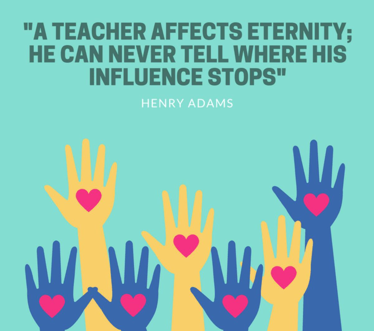 """""""A teacher affects eternity; he can never tell where his influence stops."""" — Henry Adams #edquote #motivationalquote <br>http://pic.twitter.com/CUC5JR5zYX"""