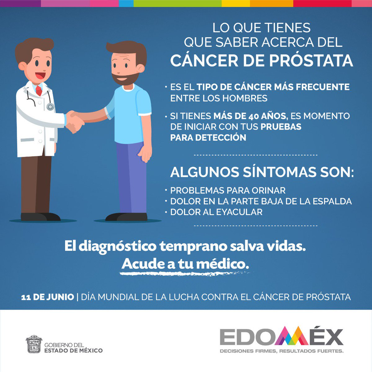cáncer de próstata detectado temprano