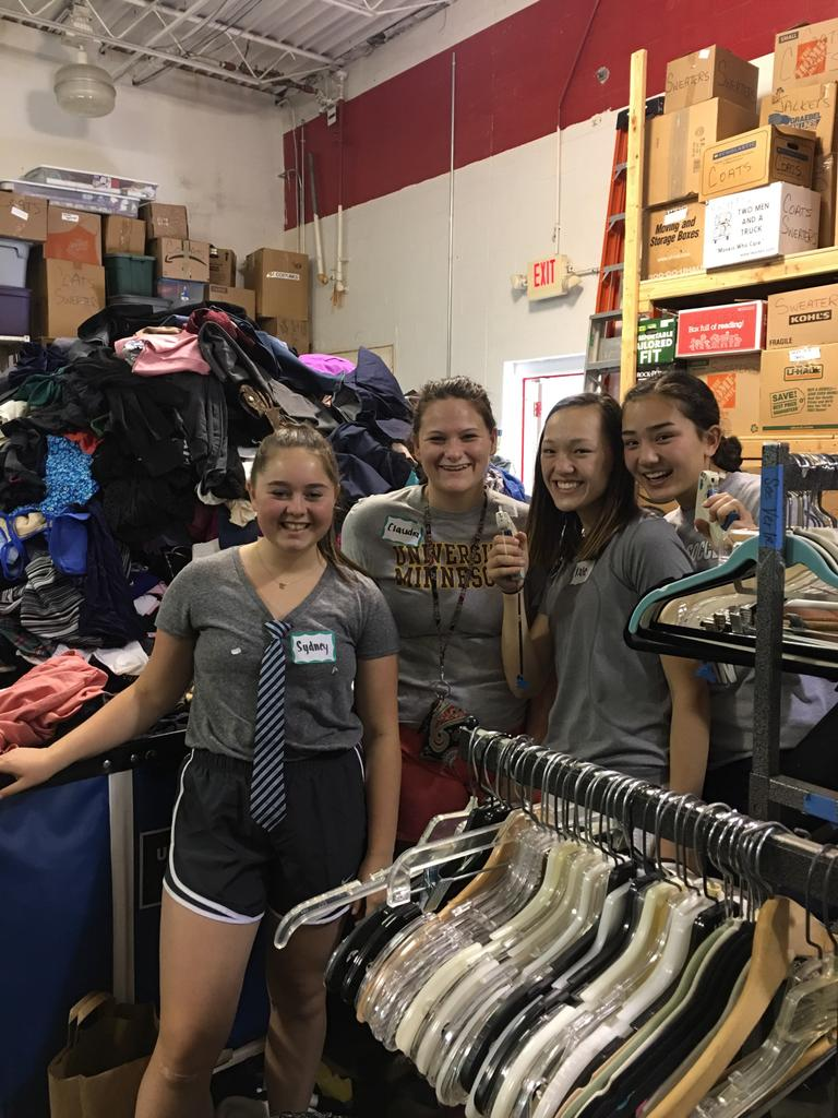 "Claire Shea on Twitter: ""Working hard at Blessings Abound Thrift ..."