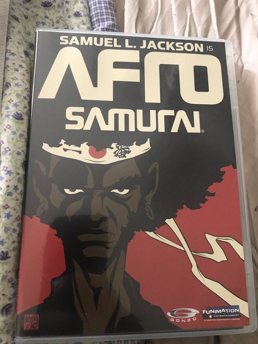 This afternoon's viewing/inspiration while working on a few things ... #afrosamurai #anime #inspiration #samuelljackson #conquesopublishing #compositionbookchronicles #cqcomics #comics #webcomic