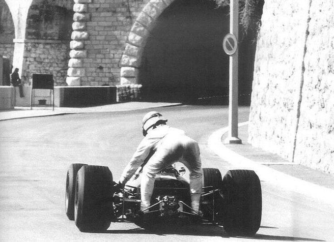 Happy Birthday Sir Jackie Stewart  ( in Monaco 1967 getting a lift from Graham Hill)