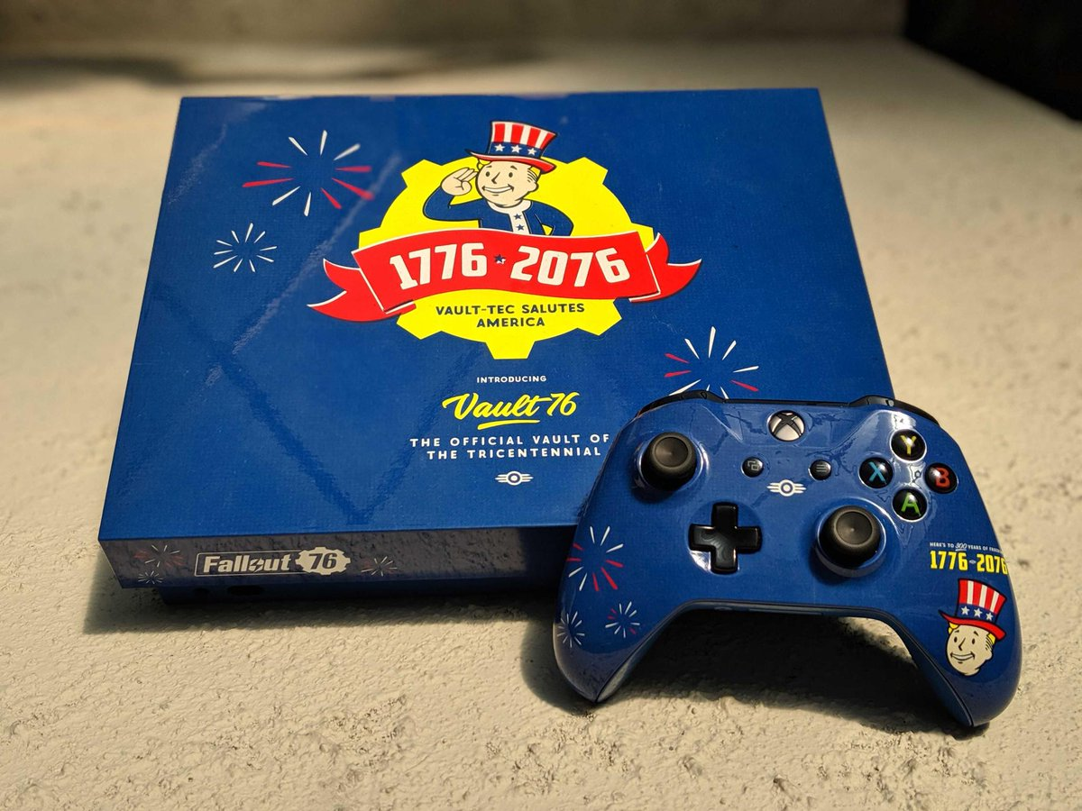 Celebrate this years #BE3 with a custom #Fallout76 Xbox One X! To enter, Follow and RT Official rules can be found here: https://beth.games/2IDip1S