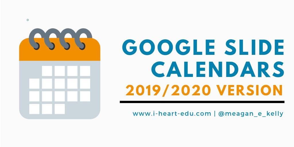 Back by popular demand - Slides calendars for the 19/20 school year!  Access 5 FREE templates for helping Ss organize their time or projects, plus a new mindfulness calendar to promote SEL! --> http://bit.ly/2XCWq1B  #GoogleEDU #GsuiteE #GoogleSlides #EdChat #EdTech #EdTechTeam