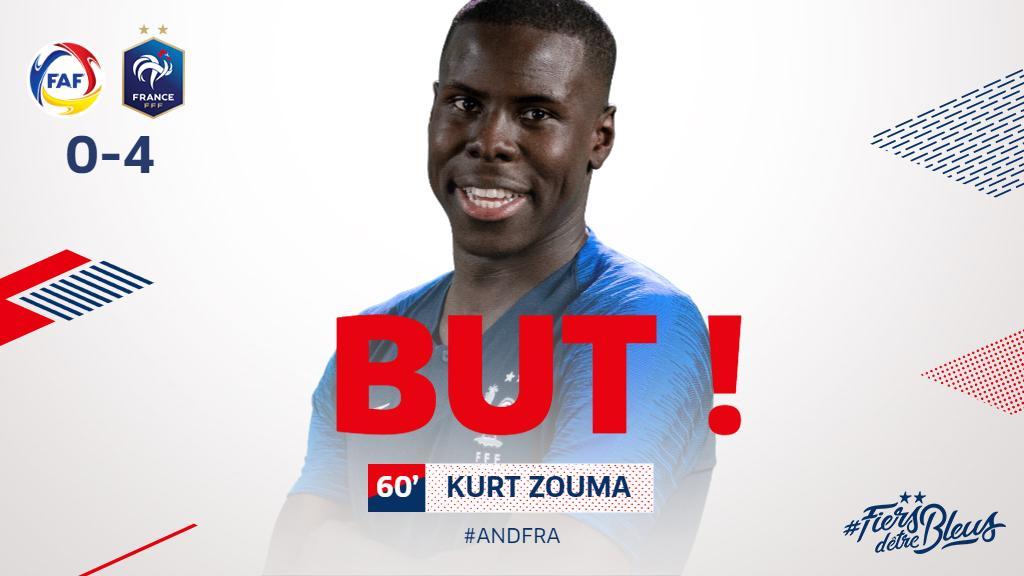 Le 4-0 ! @KurtZouma ! #ANDFRA #FiersdetreBleus