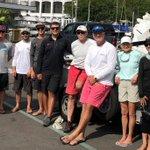 Image for the Tweet beginning: 10 sailors, 5 World Champions,