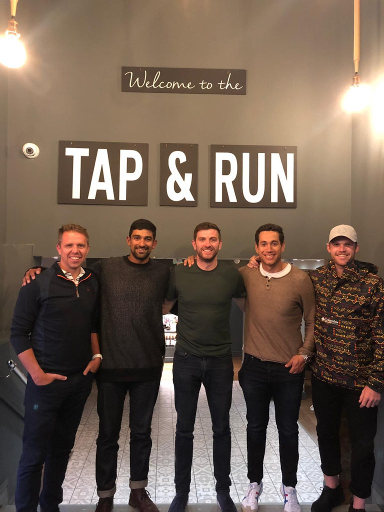 Thanks for the great hospitality @gurneyhf @tapandrunCW 👌