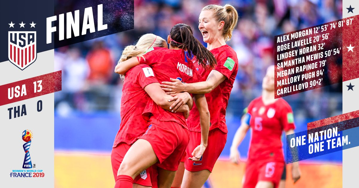 Good things to those who wait 🔥 13 goals for the #USWNT in its #FIFAWWC opener.