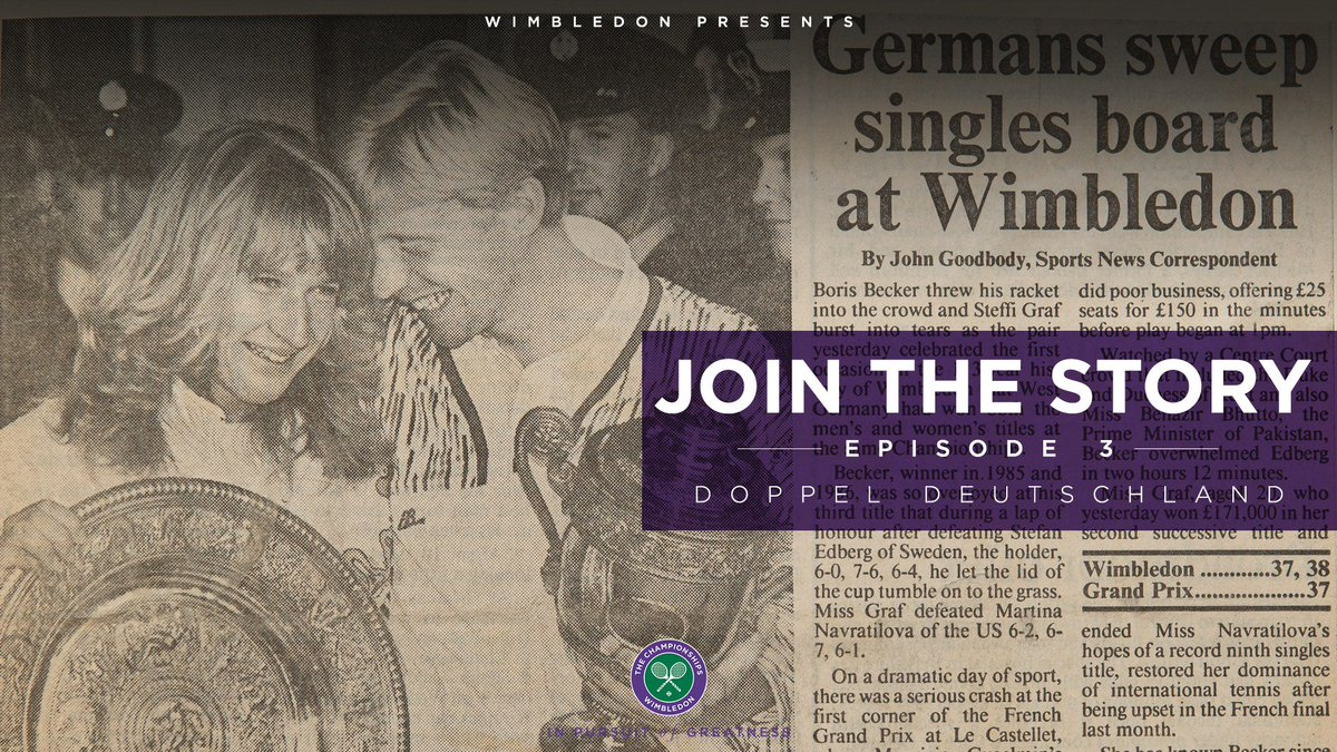 1989. A year Germany will never forget.Episode 3 of #JoinTheStory is a tale of opportunity, limitation and hope, and how sport has a way of bringing people together…