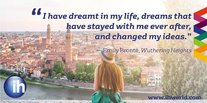 Wednesday wisdom 🤓  #IHWorld #quoteoftheweek #learnanewlanguage #IHBucharest #wednesdaywisdom #dream