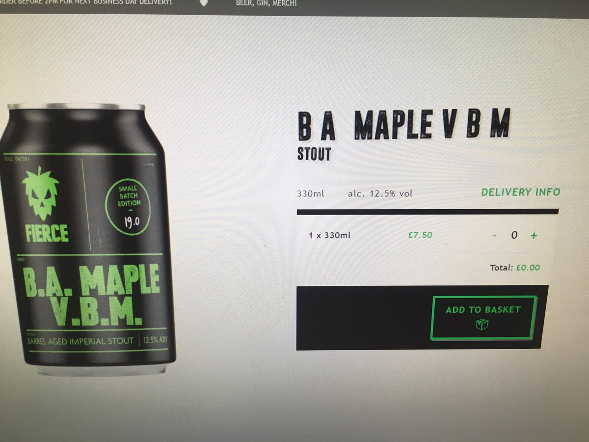 Image for Its all systems go, go, go! BA Maple VBM is live on sale at https://t.co/8jkwoAfwDg https://t.co/iVKjUuOs5L