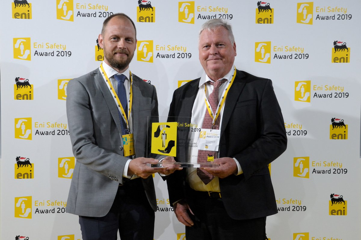 Huge congratulations to #OurPeople on #MaerskVoyager for winning a #safety award for #drillships at Safety Award @Eni 2019! #MaerskDrilling gets the award for the way safe #operations were performed on the OTCP field in #Ghana and our #SafetyasCapacity #culture.