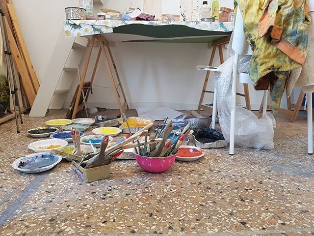 #StudioVisit #ArtistStudio #painterstudio #colors #curatorlife #venice https://t.co/PEVVnGQk6y