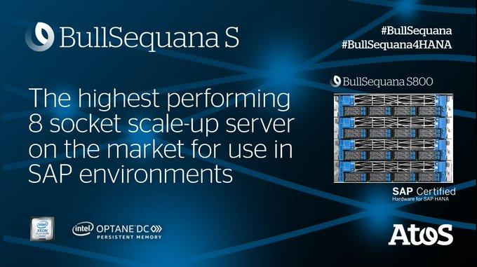 BullSequana S800 becomes the highest-performing server on the market world-wide for #SAP #HANA...