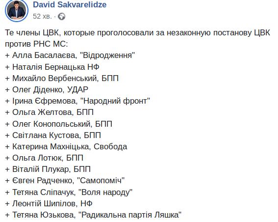 Будем зачитывать Конституцию каждому члену ЦИК, - Сакварелидзе - Цензор.НЕТ 7589