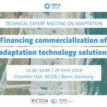 Image for the Tweet beginning: Technical Expert Meeting on Adaptation.