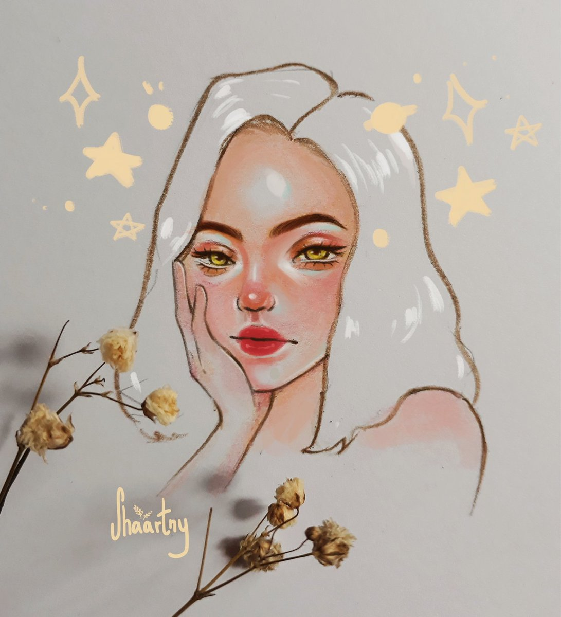 Hi I'm Shaa, I'm new to Twitter and trying to make friends with artists around here, I draw aesthetic portraits :D <br>http://pic.twitter.com/OvXSD4EbdV