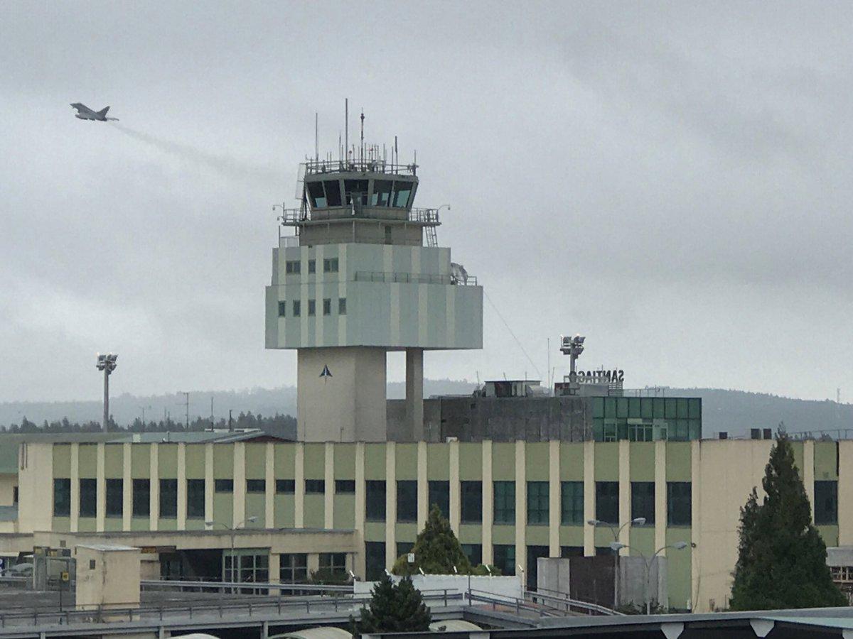 """""""Eagle eyes"""" over SCQ @controladores @infoSCQ @eurofighter – at Aeropuerto de Santiago de Compostela"""