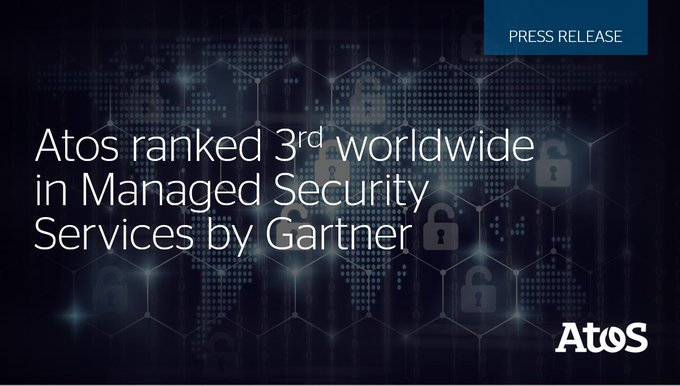 Atos, today announces it has been ranked the 3rdglobal player inManaged Security Services#...
