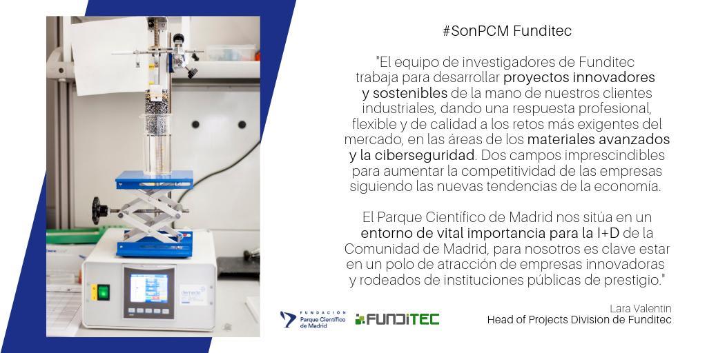 👏 Proyectos #innovadores y #sostenibles en campos de #materialesavanzados y #ciberseguridad para aumentar la competitividad de los #clientes según las nuevas tendencias de la #economía 👍 ¡Así se hace @FunditecOrg #SonPCM! #ciencia #tecnología #emprendimiento #SomosFPCM