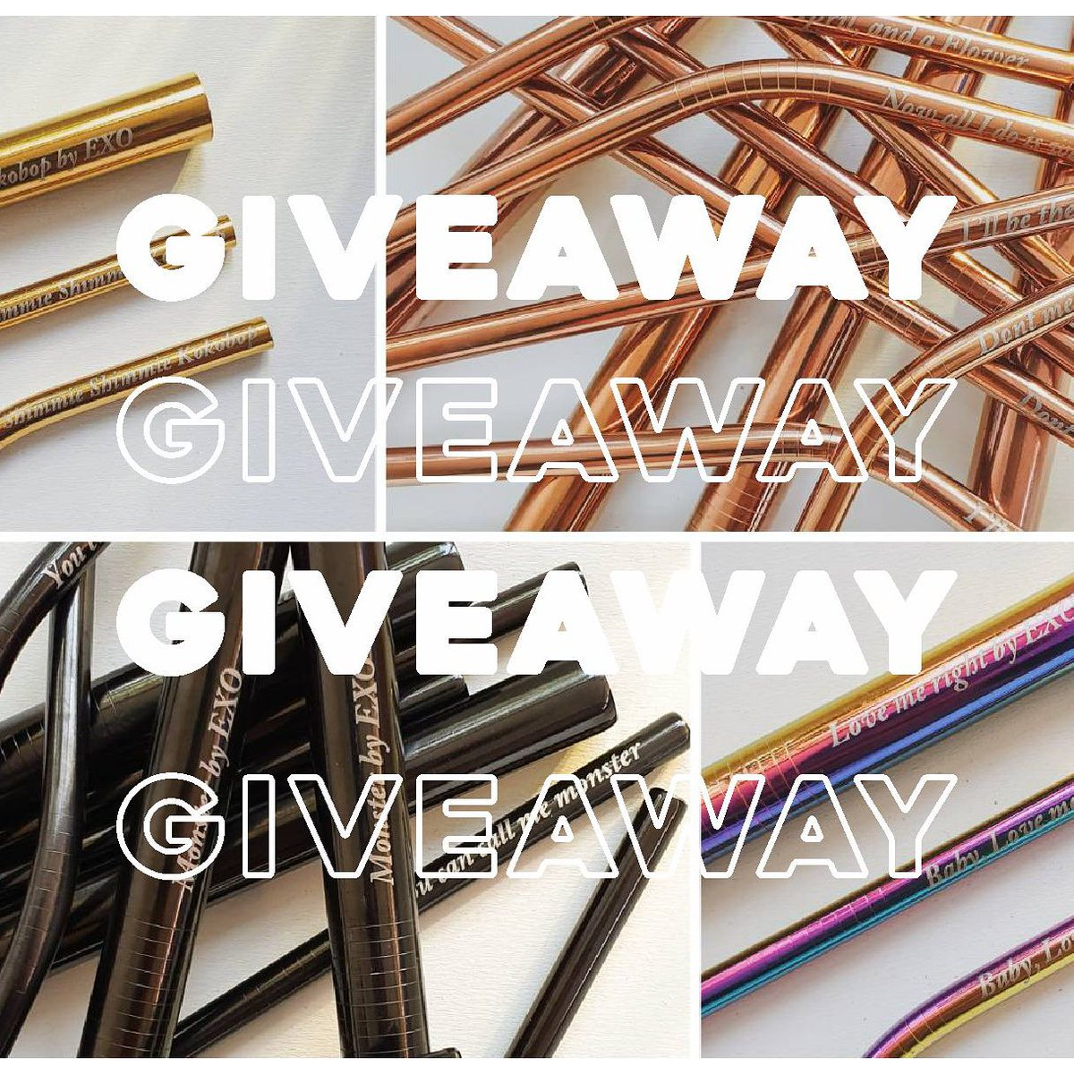 GIVEAWAY  I will choose 2 winners  Each winner will get 1 Set Stainless Straw   Twitter rule :  Like and retweet this post  Follow my acc  Reply with your country  GIVEAWAY ends on July 7th  So GOOD LUCK   #EXO #EXOL #giveaway #exostuff #stainlessstraw<br>http://pic.twitter.com/FRXeatORyW