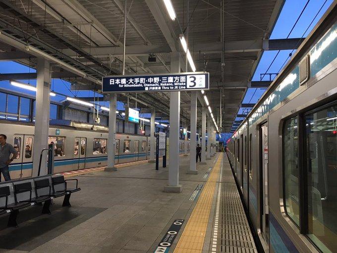 東京メトロ東西線・妙典駅で人身事故が起きた現場の画像