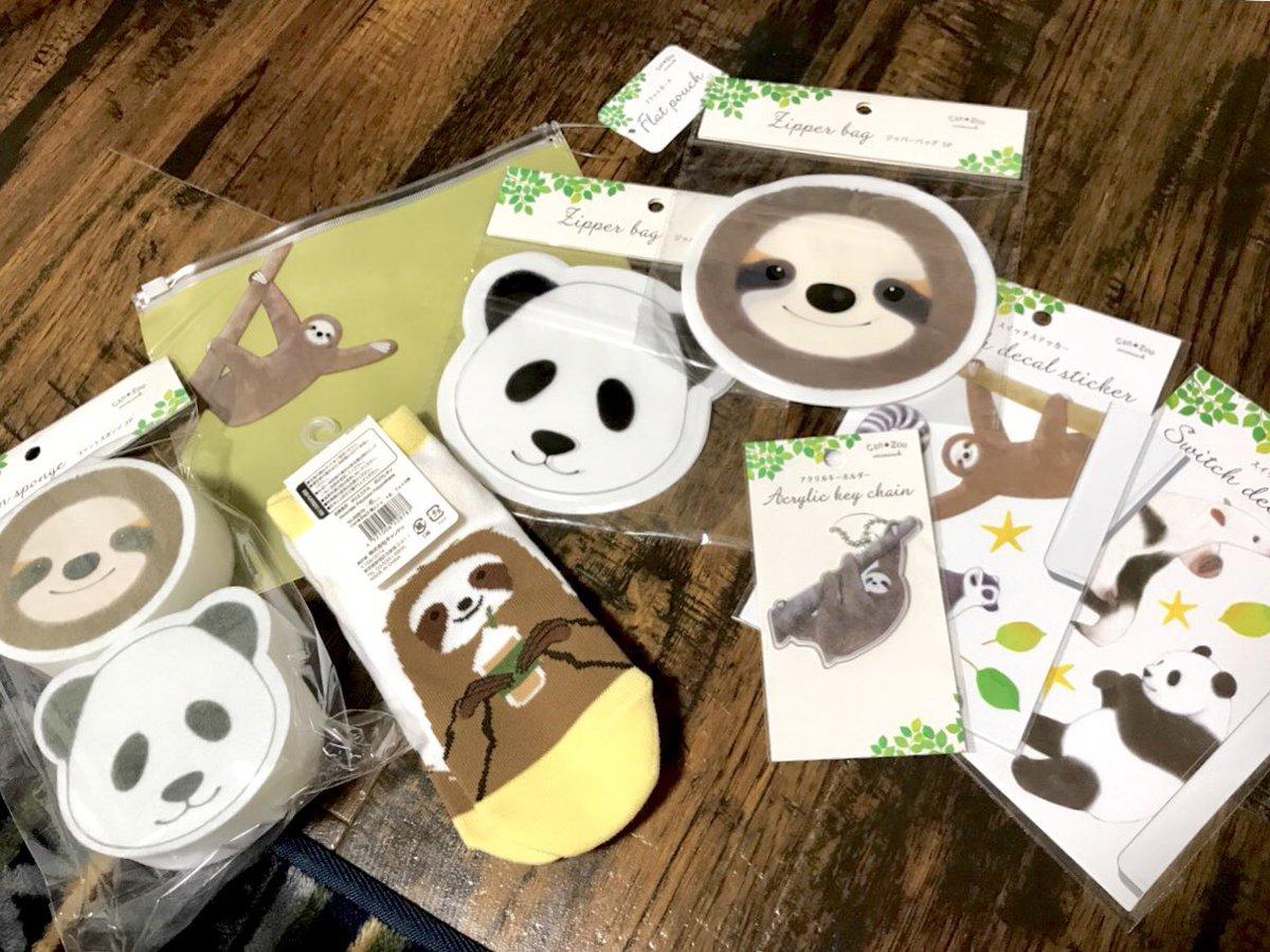 test ツイッターメディア - #キャンドゥ の、Can zooシリーズ❗️  パンダとぬめちゃんだー 買うしかない!と買いまくり爐 https://t.co/Y80Djv00OU
