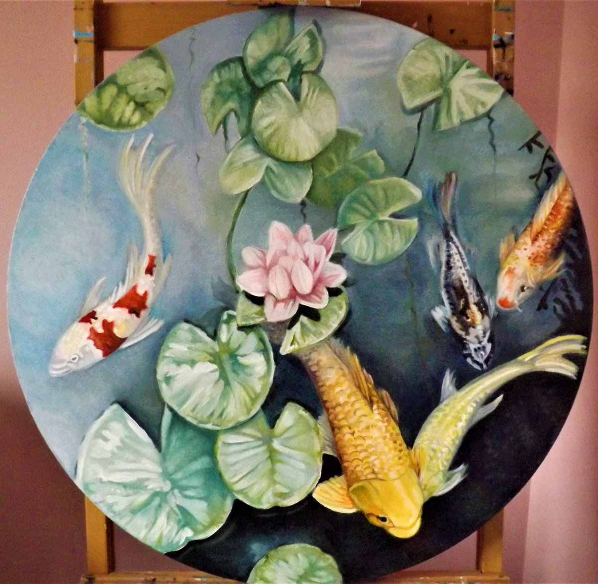 RT @louisajs1: Just completed 'Koi Serenity' @artfinder #painting #Koi #fish #pond #water #waterpainting https://t.co/1SG9MZnU2V