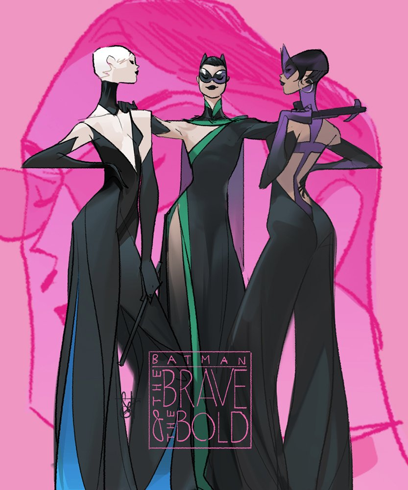 a bit of a glamour in Monday.) #birdofprey #batman #blackcannary #catwoman #huntress #DCcomics