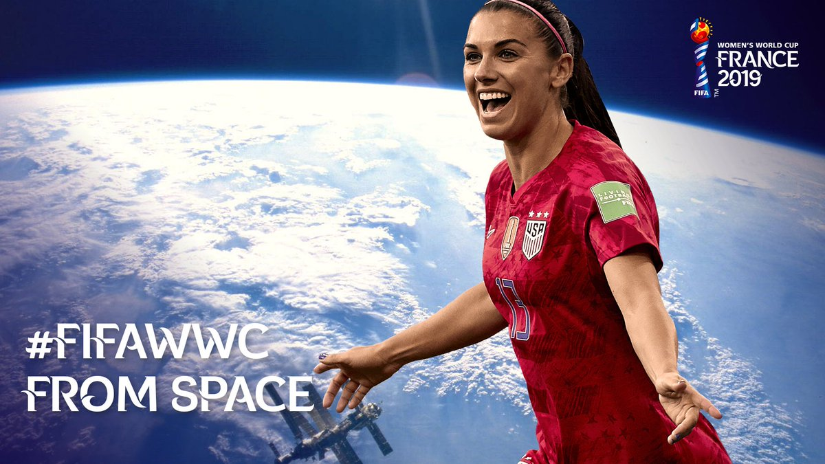 This #FIFAWWC hasnt just been a big deal on earth... Its been so much bigger than that 🚀 @NASA | #DareToShine