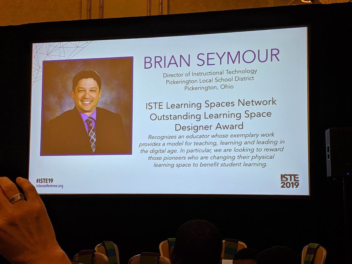 Excited to celebrate @SeymourEducate at the #ISTE19 PLN Breakfast with @AzScubaChris @MikeMades @ISTELearnSpaces
