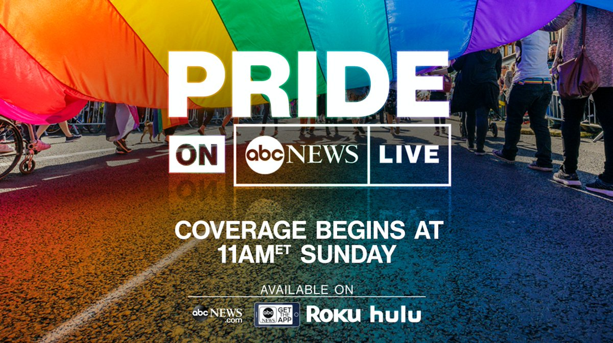 Excited that I'll be co-hosting #PRIDE on @ABCNewsLive Sun 6/30 with @GioBenitez celebrating love, life, history and community.    WATCH HERE: 📺http://ABCNews.com/LIVE  📱@ABC News App: http://apple.co/2rVpUMq  💻 @ABC News on any streaming device 📍Live on @ABC7NY