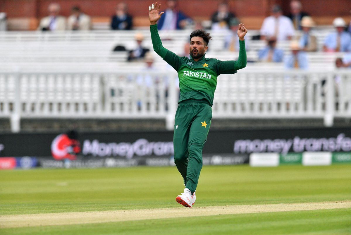 Bowlers who have NOT conceded a six yet in this World Cup: 276 - Mohd Amir208 - Oshane Thomas173 - Ben Stokes144 - Hamid Hassan136 - Bhuvneshwar Kumar120 - Imad Wasim 84 - Ashley Nurse 78 - Kemar Roach 59 - Mohd Shami 54 - Chris Gayle.      #CWC19