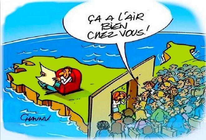 La Bretagne ne peut pas accueillir toute la misère climatique du monde... (et notamment les migrants français qui se moquent le reste de l'année de notre météo «pluvieuse» 😜)#Canicule