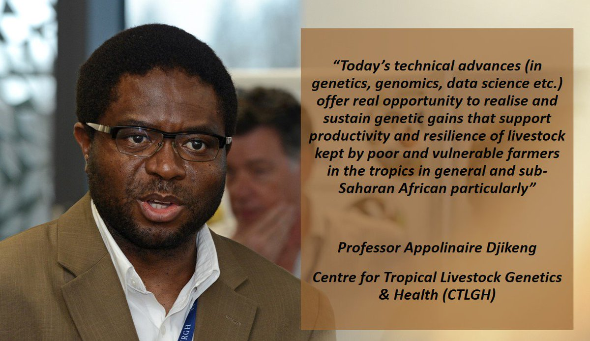 "Hear more of Appolinaire Djikeng's thoughts on how harnessing genetic diversity can help both public & livestock health. Register now for ""Leveraging Genomic Diversity to Promote Animal & Human Health"" live ePanel Tues 6 June @ 13:30-15:00 SAST/7:30 AM ET) https://bit.ly/2NaKBid"