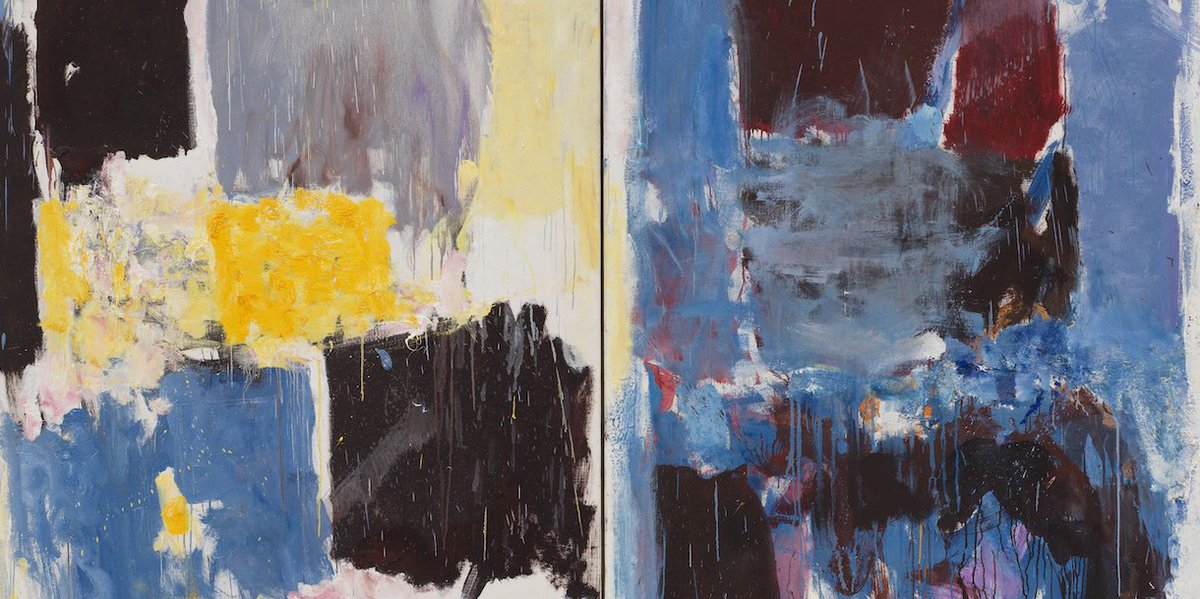 """The Joan Mitchell You've Never Seen https://hyperallergic.com/506405/the-joan-mitchell-youve-never-seen/?utm_medium=email&utm_campaign=Weekend%20062319%20-%20Excavating%20Mark&utm_content=Weekend%20062319%20-%20Excavating%20Mark+CID_8dcac242dc8c61d6c0012e5d5c7d35f2&utm_source=HyperallergicNewsletter… via @hyperallergic Come see a multi-panel Mitchell painting you might not have seen at the Georgia Museum of Art: """"Close,"""" 1973 (not pictured)"""