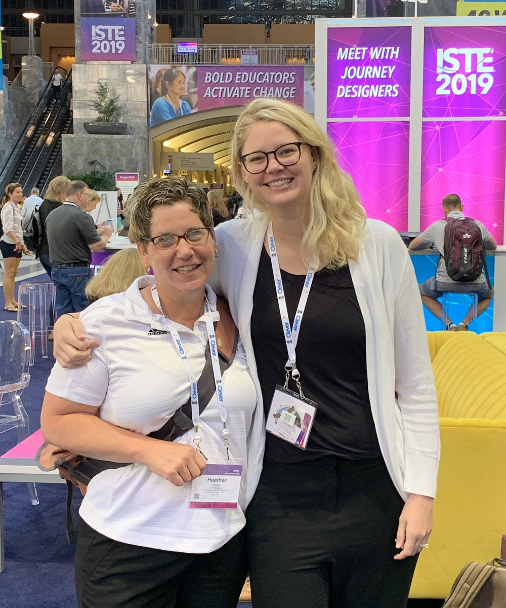 #ISTE19 #ISTE2019 OMG, we are here!! So fun doing this with @MsKalbach #techysisters