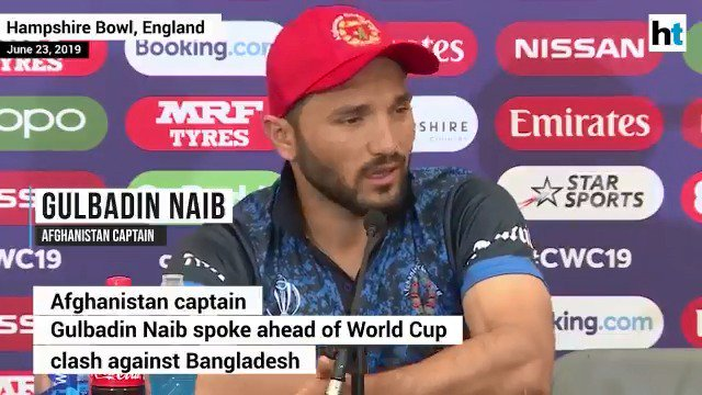 """Hum to doobe hain sanam, tumko bhi le doobenge"" - Afghanistan captain Gulbadin Naib to Bangladesh 🤣😂🤣#AFGvBAN #BANvAFG"