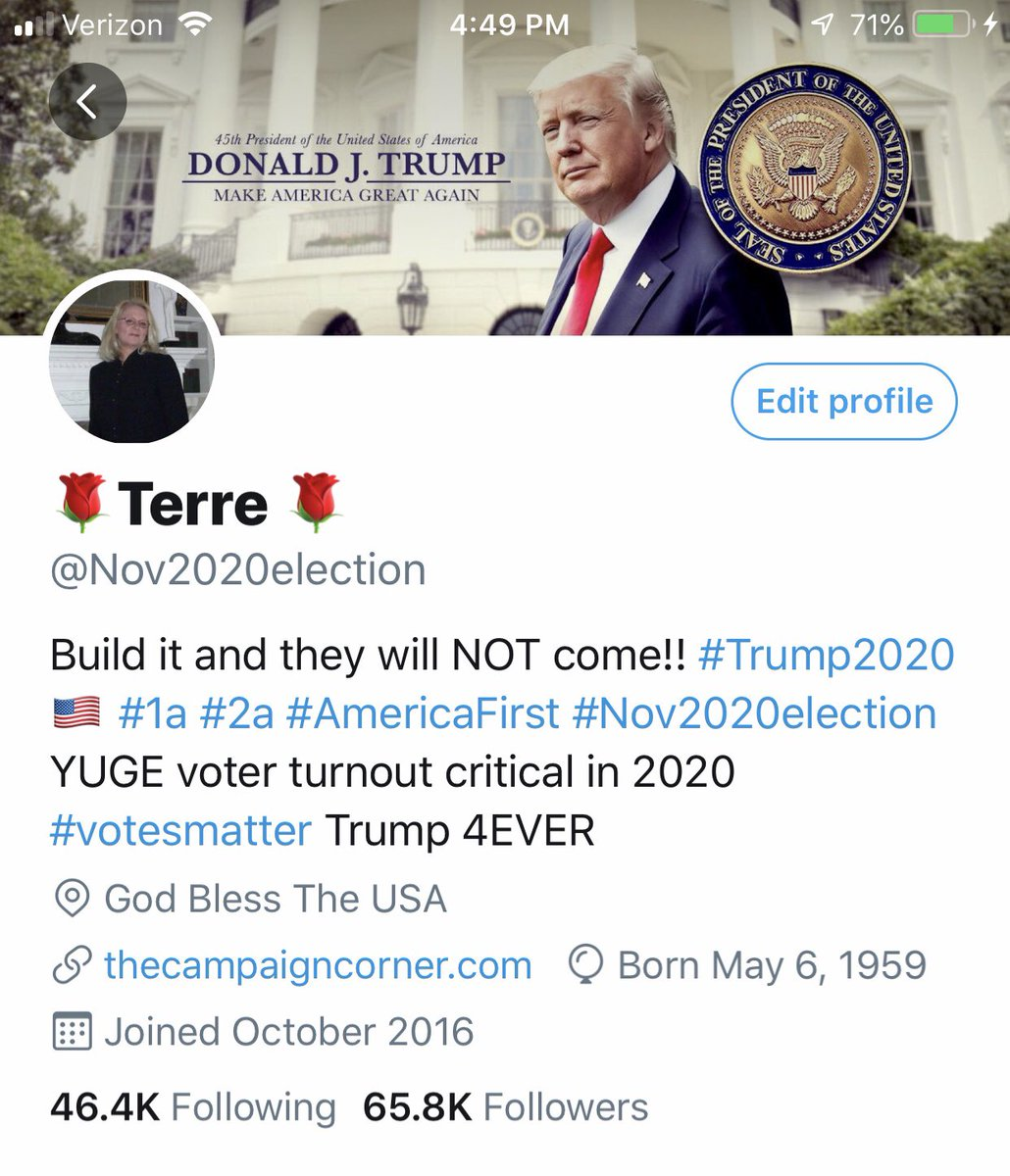 Another Conservative, Pro Trump Account Suspended ...... MINE!!   Please Follow Me Here @TerreLovesTrump   @realDonaldTrump MAGA 🇺🇸