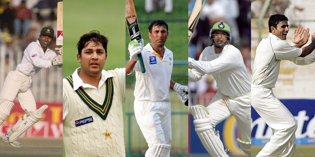 Saeed Anwar 💯@Inzamam08 💯@YounusK75 💯@wasimakramlive 💯@ARazzaqPak 🎩#OnThisDay in 2000, Pakistan defeated Sri Lanka by an innings and 163 runs in the Galle Test. Saeed, Inzamam, Younis and Wasim made centuries, and Razzaq became the youngest man to take a Test hat-trick.