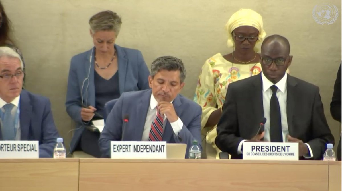 """There is no reason we should not demand from ourselves a world free of criminalization and discrimination by 2030"", concludes @victor_madrigal (📷: UN Web TV) #HRC41 #RenewIESOGI"